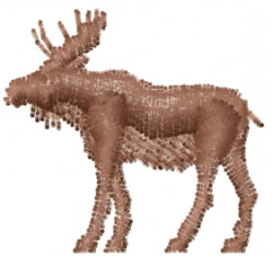 Moose - Mini Silhouette embroidery design