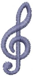 Treble Clef 3 embroidery design