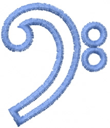Bass Clef 3 embroidery design