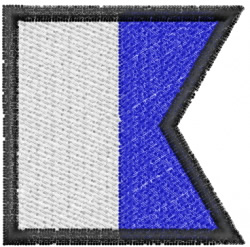 Nautical Flag A embroidery design
