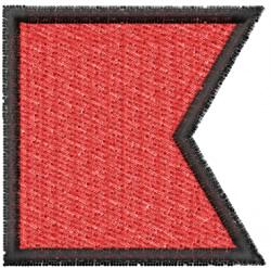 Nautical Flag B embroidery design