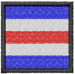 Nautical Flag C embroidery design