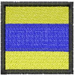 Nautical Flag D embroidery design