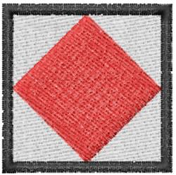 Nautical Flag F embroidery design