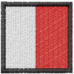 Nautical Flag H embroidery design