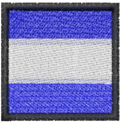Nautical Flag J embroidery design