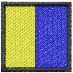 Nautical Flag K embroidery design