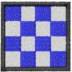 Nautical Flag N embroidery design