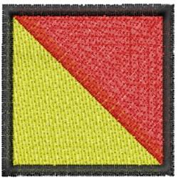 Nautical Flag O embroidery design