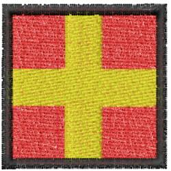 Nautical Flag R embroidery design