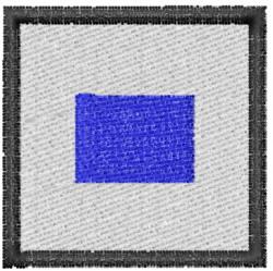 Nautical Flag S embroidery design