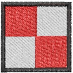 Nautical Flag U embroidery design