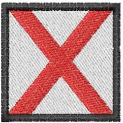 Nautical Flag V embroidery design