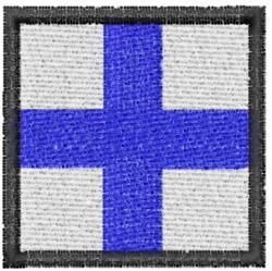 Nautical Flag X embroidery design