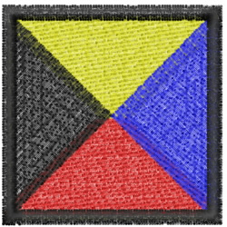 Nautical Flag Z embroidery design