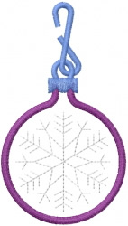 Snowflake Ornament 1 embroidery design