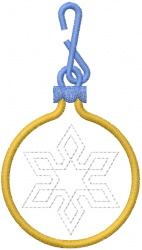 Snowflake Ornament 2 embroidery design