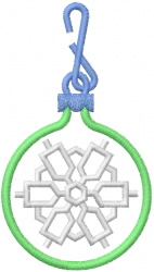 Snowflake Ornament 12 embroidery design