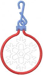 Snowflake Ornament 13 embroidery design