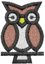 Owl 1 embroidery design