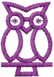 Owl 13 embroidery design