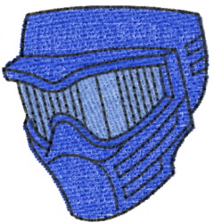Paintball Mask embroidery design