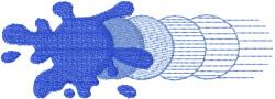 Splat Streak embroidery design