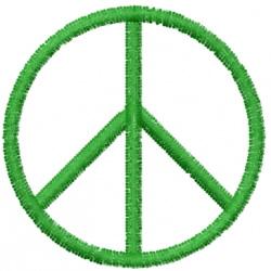 Peace Symbol embroidery design
