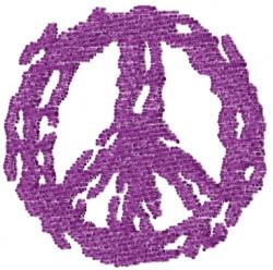 Peace Symbol Splatter embroidery design