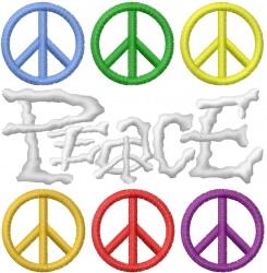 PEACE GRAFFITTTI embroidery design