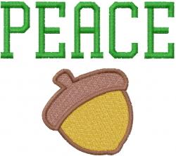 Peace Nut embroidery design