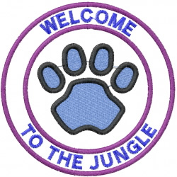 Welcome To Jungle embroidery design