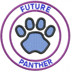 Future Panther embroidery design