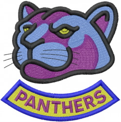 Panthers Head embroidery design