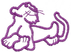 Panther 9 embroidery design