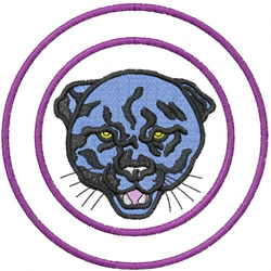 PANTHER HEAD 1 – DOUBLE CIRCLE embroidery design