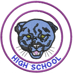 PANTHER HEAD 1 – HIGH SCHOOL embroidery design