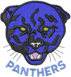 PANTHER HEAD 1 – PANTHERS – ARC embroidery design