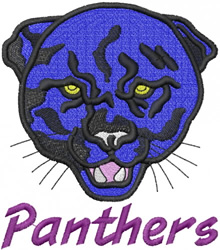 PANTHER HEAD 1 – PANTHERS – LEAN embroidery design