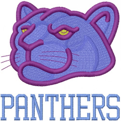 PANTHER HEAD 2 – PANTHERS – ATHLETIC BLOCK embroidery design