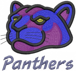 PANTHER HEAD 2 – PANTHERS – LEAN embroidery design