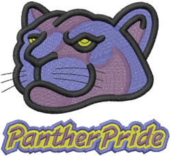 PANTHER HEAD 2 – PANTHER PRIDE – DBL OUTLINE embroidery design