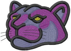 PANTHER HEAD 2 – GOLDEN EYE embroidery design