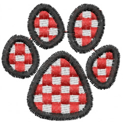 Pawprint 4 embroidery design