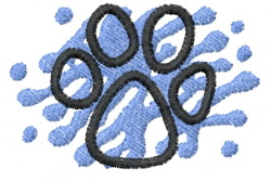 Pawprint 8 embroidery design