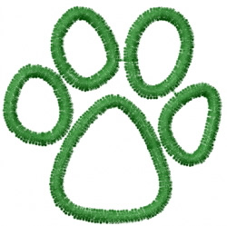 Pawprint 11 embroidery design