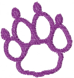 Pawprint 14 embroidery design