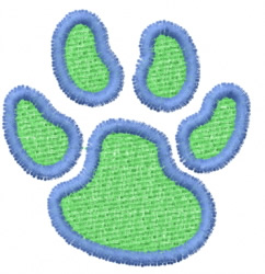 Pawprint 17 embroidery design