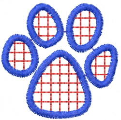 Pawprint 18 embroidery design