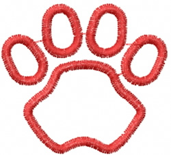 Pawprint 21 embroidery design
